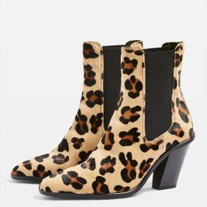 MORTY Leopard Print Ankle Boots