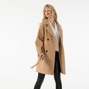 ISSUE camel Coat