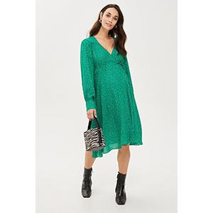 MATERNITY Spot Wrap Dress
