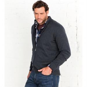 Cotton Zip-Up Cardigan La Redoute
