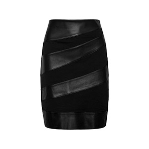 Faux Leather Midi Skirt by Only