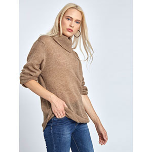 Πλεκτό ζιβάγκο πουλόβερ