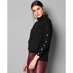 Acel Μαύρη Πλεκτή μπλούζα
