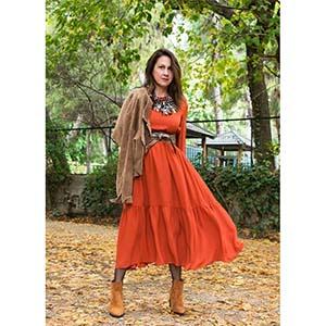 blogger bohemian luxe φόρεμα σε tabac εκάϊ