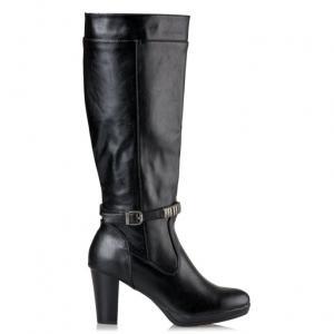 blogger μπότες vintage styled 70s black