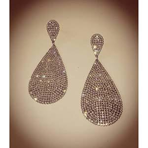 vintage imperial σκουλαρίκια crystal tears