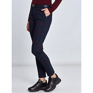 Εμπριμέ παντελόνι με ζώνη