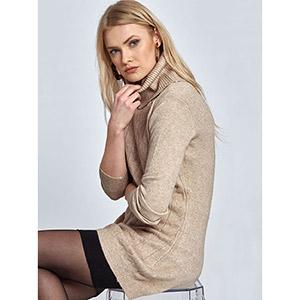 Πλεκτό μακρύ πουλόβερ με σχέδιο