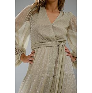 Μακρύ κρουαζέ μεταλλικό φόρεμα