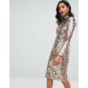 TFNC high neck sequin midi dress