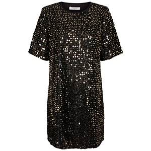 Cleo Sequin Dress by Pieces