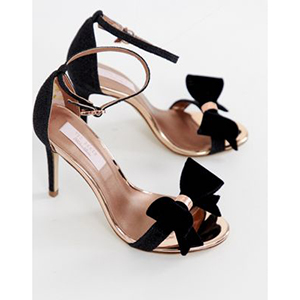 Ted Baker black sparkling heeled sandals
