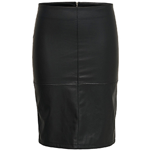 Ticket Faux Leather Skirt by Only