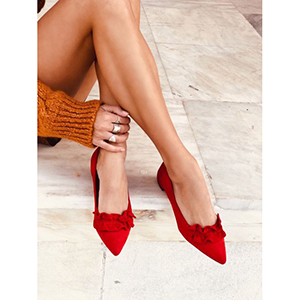 Elizeta pointed flat shoe