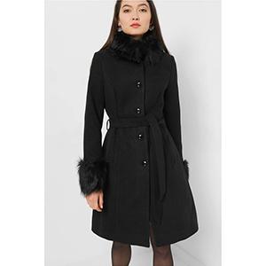 Orsay γυναικείο παλτό με faux γούνα