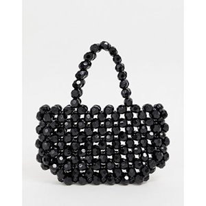 Glamorous black beaded bag