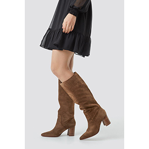 Mango Campo Boots Brown