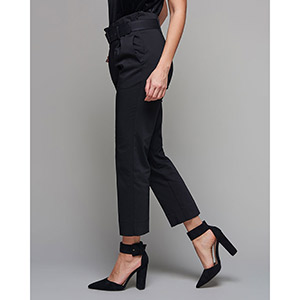 Black High Waist Trousers by Nejma