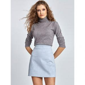 Mini φούστα από συνθετικό suede