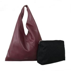 Burgundy Hobo Bag by Red Cuckoo