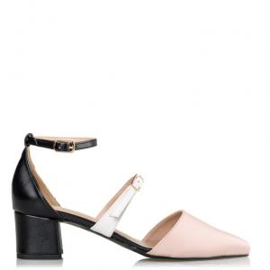 DOUBLE STRAP POINTED PUMPS