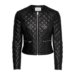 Fia Quilt Faux Leather Jacket by JDY