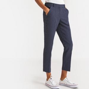 Slim παντελόνι σιγκαρέτ με ζακάρ μοτίβο
