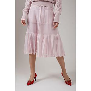 Midi φούστα με κουμπιά