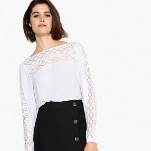 Μακρυμάνικη μπλούζα με δαντέλα