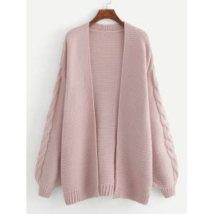 SHEIN Plus Open Front Solid Cardigan