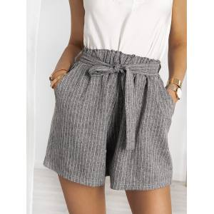 QUINTANA GREY STRIPPED SHORTS