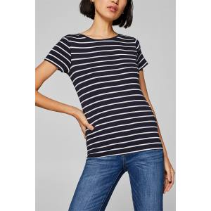 Esprit γυναικεία ριγέ μπλούζα με διακοσμητικά κουμπιά