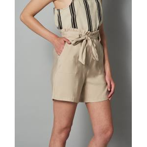 Lukki Soft Camel High Waist Shorts by Vila