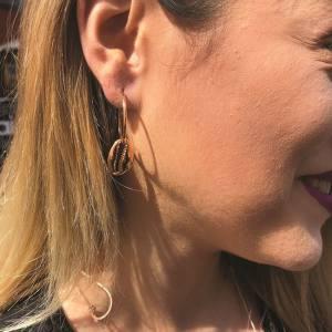 Σκουλαρίκια Από Ορείχαλκο Ροζ Επιχρυσωμένο Με Κοχύλι