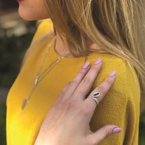 Δαχτυλίδι Από Ορείχαλκο Επαργυρωμένο Με Κοχύλι