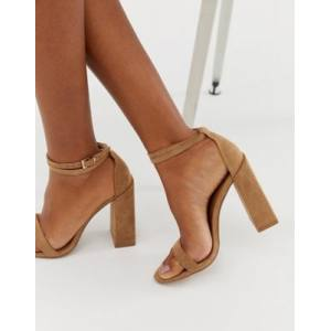 ASOS DESIGN Highlight barely there block heeled sandals