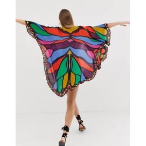 ASOS DESIGN butterfly festival kimono cape