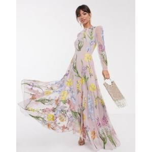 ASOS EDITION garden floral embroidered maxi dress