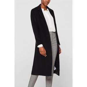 Esprit γυναικείο μάλλινο παλτό με ζώνη