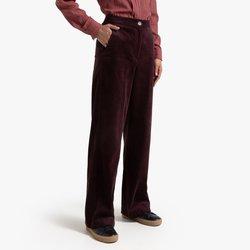 Ίσιο φαρδύ παντελόνι από κοτλέ βελούδο