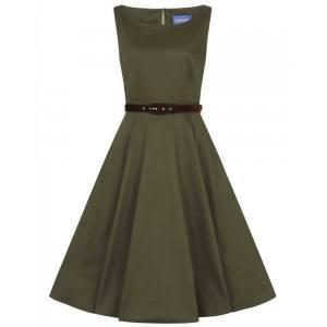 vintage φόρεμα 50s militaire khaki Dalia