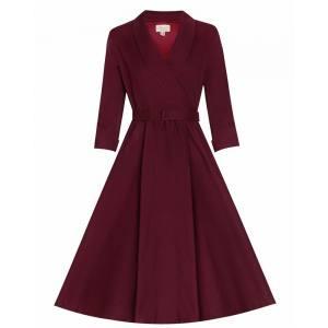 vintage vamp 50s φόρεμα Vivien burgundy