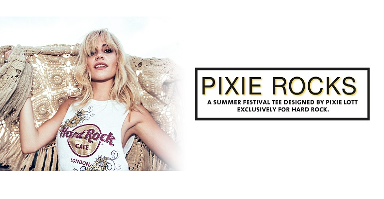 Hard Rock Cafe x Pixie Lott limited edition T-shirt!