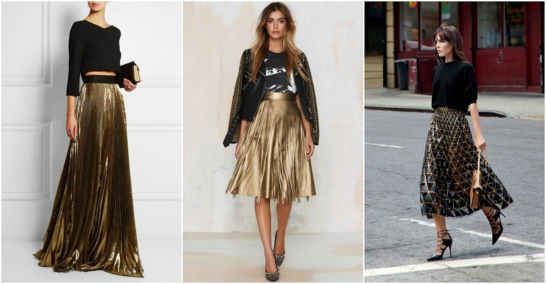 How To Wear A Metallic Skirt?