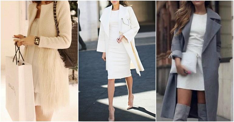 5c4847105272 Πως φοράμε τα λευκά φορέματα τον Χειμώνα