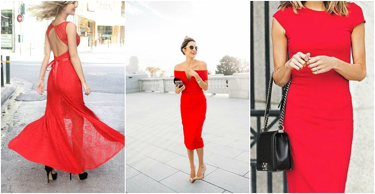 6eab4871fda6 Κόκκινο Φόρεμα  Πως το φοράμε